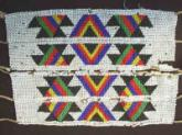Zulu mans beaded panel leg bands, old and used. .