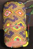 Old beaded lime container, West Timor..