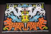 Beaded panel for a Dayak baby carrier