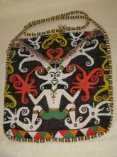 Superb Dayak fully beaded man's status shoulder bag (ASX)