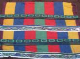 Rare Ndebele beaded blanket, 1960s Middleburg Transvaal,  old and used..