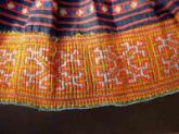 Exceptionally fine and complex Hmong hil tribe skirt .
